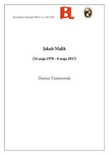 Jakub Malik (16 maja 1970 – 8 maja 2017)