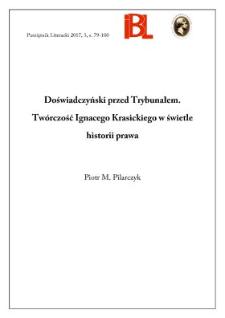 Doświadczyński przed Trybunałem. Twórczość Ignacego Krasickiego w świetle historii prawa