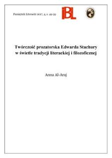 Twórczość prozatorska Edwarda Stachury w świetle tradycji literackiej i filozoficznej