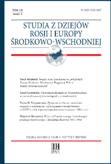 Studia z Dziejów Rosji i Europy Środkowo-Wschodniej T. 52 z. 2 (2017), Artykuły recenzyjne i recenzje