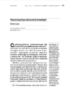 W sprawie polityczności polskiej humanistyki