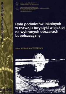 Rola podmiotów lokalnych w rozwoju turystyki wiejskiej na wybranych obszarach Lubelszczyzny