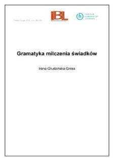 Gramatyka milczenia świadków