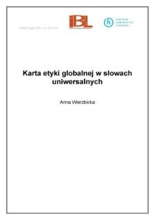 Karta etyki globalnej w słowach uniwersalnych