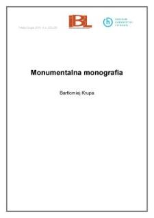 Monumentalna monografia