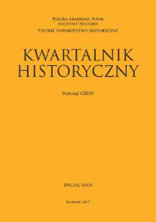 Kwartalnik Historyczny, Vol. 124 (2017) Special Issue, Reviews