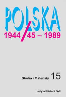 Od Drugiej Rzeczypospolitej do Polski Ludowej : ewolucja systemu ochrony zdrowia w Polsce w latach 1944–1950