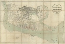 Plan of the town & cantonment of Rangoon