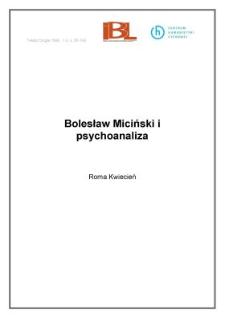 Bolesław Miciński i psychoanaliza