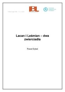 Lacan i Leśmian - dwa zwierciadła