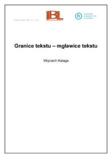 Granice tekstu - mgławice tekstu