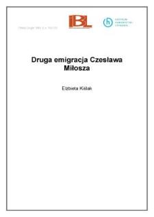 Druga emigracja Czesława Miłosza