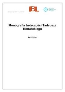 Monografia twórczości Tadeusza Konwickiego