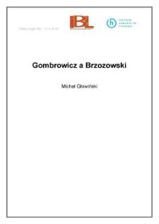 Gombrowicz a Brzozowski