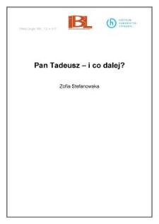 Pan Tadeusz - i co dalej?