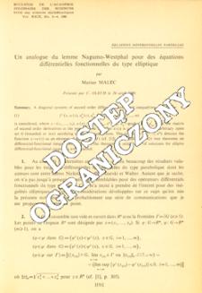 Un analogue du lemme Nagumo-Westphal pour des équations différentielles fonctionnelles du type elliptique