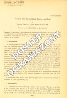 Monads and generalized Linton algebras