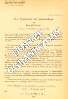 """Zwei """"Gegenbeispiele"""" zur Integrationstheorie"""