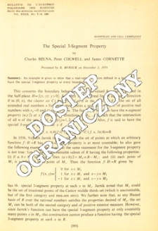 The special 3-segment property