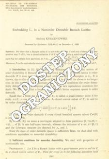 Embedding L1, in a nonorder dentable Banach lattice