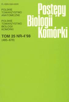 Postępy biologii komórki, Tom 25 nr 4, 1998