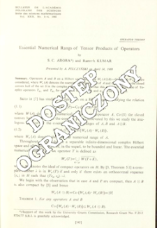 Essential numerical rangs of tensor products of operators