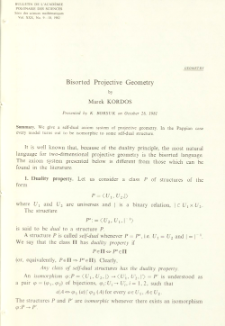 Bisorted projective geometry