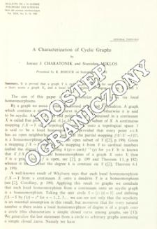 A characterization of cyclic graphs