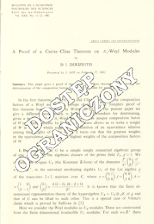 A proof of a Carter-Cline theorem on A1-Weyl modules