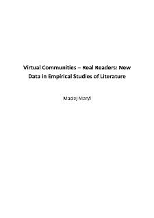 Virtual Communities – Real Readers: New Data in Empirical Studies of Literature