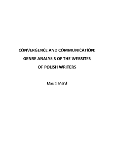 Convergence and Communication: Genre Analysis of the websites of Polish Writers