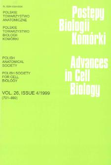Postępy biologii komórki, Tom 26 nr 4, 1999