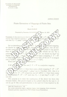 Finite extensions of mappings of finite sets