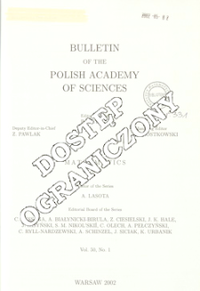 Bulletin of the Polish Academy of Sciences. Mathematics T.50, 2002, Spis treści i dodatki