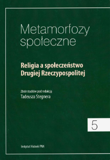 Religia a społeczeństwo Drugiej Rzeczypospolitej. Strony tytułowe, Spis treści