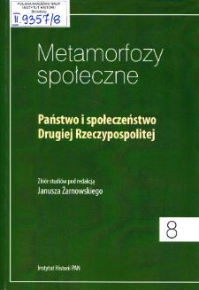 Państwo i społeczeństwo Drugiej Rzeczypospolitej. Strony tytułowe, Spis treści
