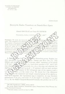 Horocyclic Radon transform on Damek-Ricci space