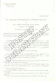 On a question of Pełczyński about multilinear operators