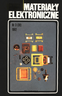 Spis treści 1982 nr 3(39) = Contents 1982 nr 3(39)