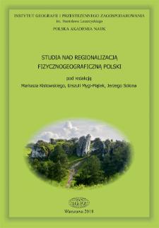 Studia nad regionalizacją fizycznogeograficzną Polski = Studies on division of Poland into physico-geographical regions