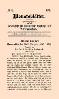 Monatsblätter Jhrg. 13, H. 2 (1899)