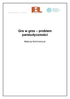 Gra w grze – problem paraludyczności