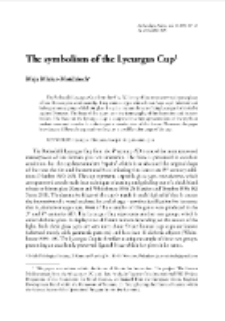 The symbolism of the Lycurgus Cup