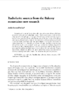 Radiolarite sources from the Bakony mountains: new research