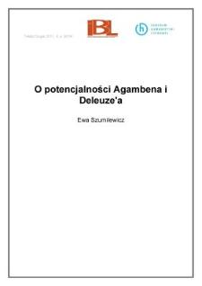 O potencjalności Agambena i Deleuze'a