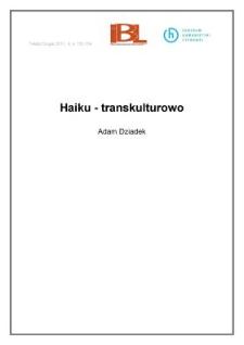Haiku – transkulturowo