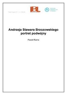 Andrzeja Stawara Brzozowskiego portret podwójny