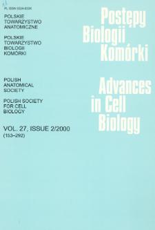 Postępy biologii komórki, Tom 27 nr 2, 2000