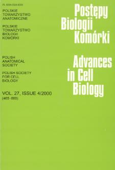 Postępy biologii komórki, Tom 27 nr 4, 2000