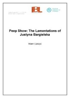 Peep Show: The Lamentations of Justyna Bargielska